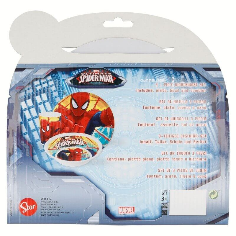 Set pranzo in melamina Spiderman