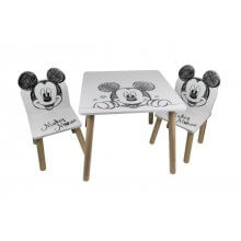 Set Tavolino e 2 Sedie Mickey Pure collection