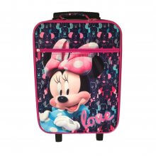 Trolley Valigia Morbida Disney Minnie Blu