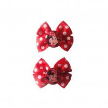 Set 2 mollette con fiocco Disney Minnie