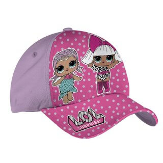 Cappellino LOL Surprise Regolabile Lilla e Rosa